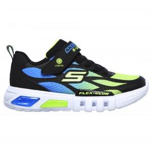 Skechers Flex Glow Dezlom 400016l Trainers - Black/Lime