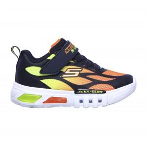 Skechers Flex Glow Sezlom 400016N Trainers - Navy/Orange