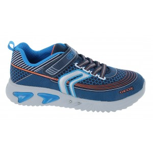 Geox Assister J15DZA Trainers - Navy/Silver