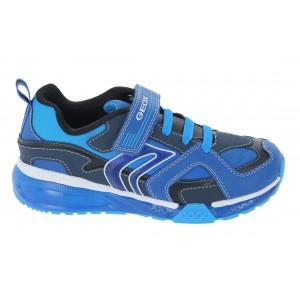 Geox Bayonyc J16FEA Trainers - Royal/ Light Blue