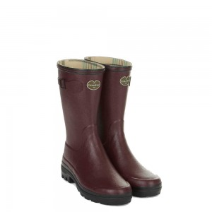 Le Chameau Giverny Jersey Lined  Wellingtons 4209 - Cherry