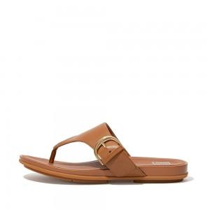 Fitflop Gracie Toe Post Sandals - Light Tan