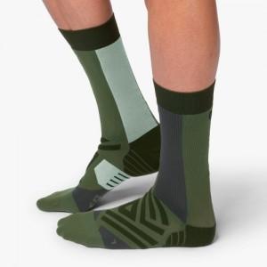 On Running High Socks - Forest Moss