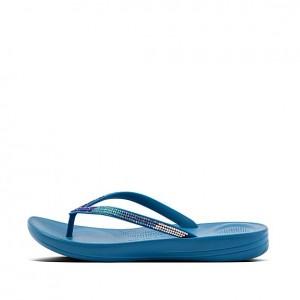 Fitflop Iqushion Ombre Sparkle Flip-flops -Sea Blue