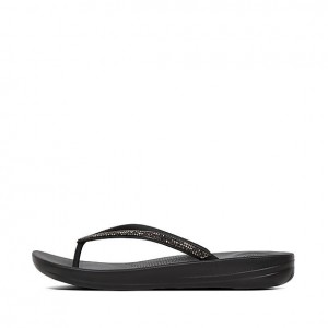 Fitflop Iqushion Sparkle Flip-flops - Black