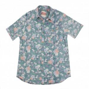 Hey Dude Isle E1210191206 Short Sleeve Shirt - Multi Cotton