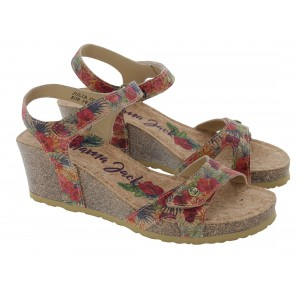 Panama Jack Julia Cork Sandals - Red
