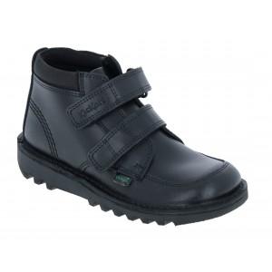 Kickers Kick Hi Scuff Junior Shoes - Black