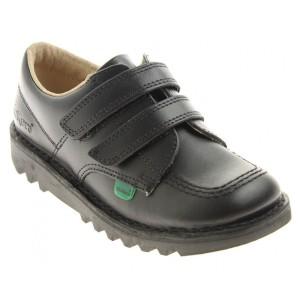 Kickers Kick Lo Twin Velcro Infant Shoes - Black