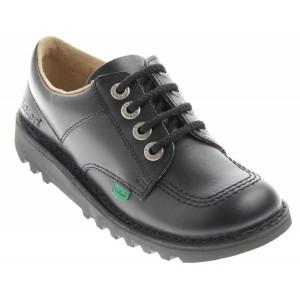 Kickers Kick Lo Youth School Shoes - Black