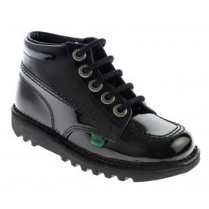 Kickers Kick Hi Core Infant Boots - Black Patent