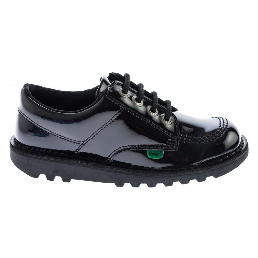 Kick Lo Core Junior Shoes - Black Patent