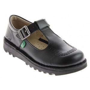 Kickers Kick T Bar Core Infant Shoes - Black