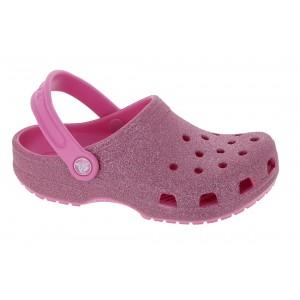 Crocs Kids Classic Glitter Clogs - Pink Lemonade