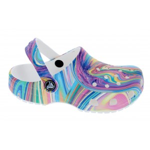 Crocs Kids Classic Out Of This World Clogs - Multi/White