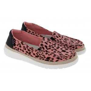 Hey Dude Lena D21955038 Shoes - Leopard Print Rose