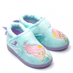 Chipmunks Maisie Mermaid Slippers - Aqua