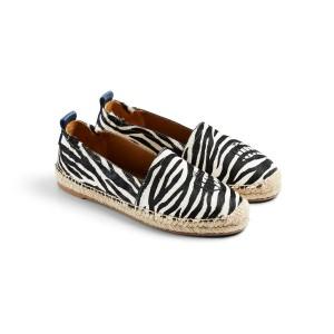 Fairfax & Favor Monaco Flat Espadrilles - Zebra Haircalf