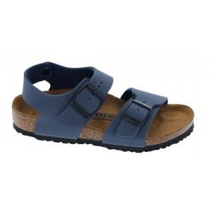 Birkenstock New York Kids Birko-Flor Narrow Fit Sandals - Navy