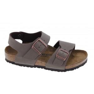 Birkenstock New York Kids Birko-Flor Narrow Fit Sandals - Mocha