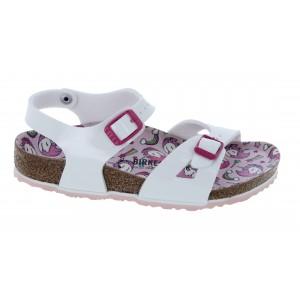 Birkenstock Rio Kids 1018864 Sandals - Patent White/Unicorn