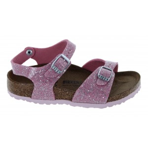 Birkenstock Rio Birko-Flor 1018991 Sandals - Cosmic Sparkle Candy Pink