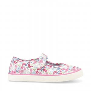 Start-Rite Blossom Floral Canvas Shoes - Pink
