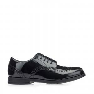 Start-Rite Brogue Pri Shoes - Black Patent