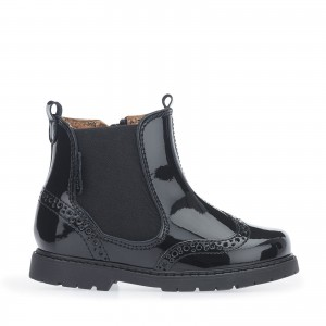 Start-Rite Chelsea Boots - Black Patent