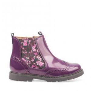 Start-Rite Chelsea Boots - Blackcurrant Glitter Patent