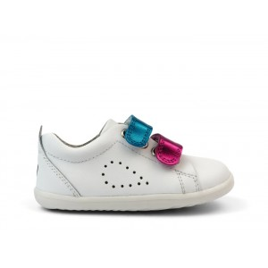 Bobux Step Up Grass Court Switch 7317 Shoes - White