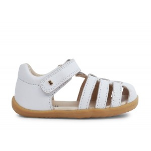 Bobux Step Up Jump 7234A Sandals - White Leather