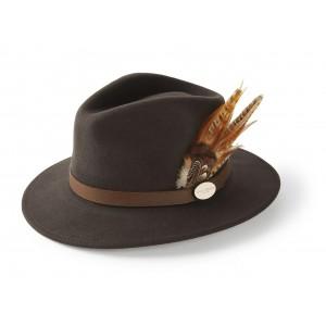 Hicks & Brown Suffolk Fedora Gamebird Feather- Dark Brown