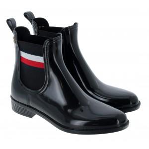 Tommy Hilfiger Corporate Ribbon FW05969 Wellingtons - Black