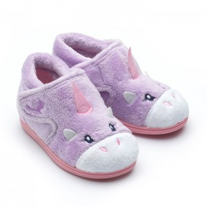 Chipmunks Unicorn Slippers - Liilac