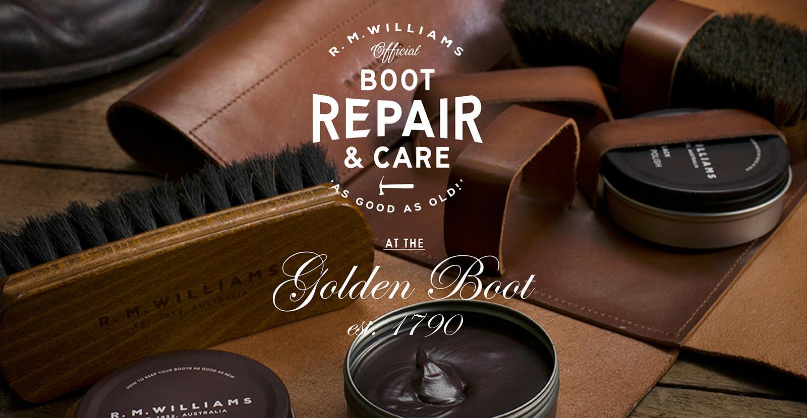 R. M. Williams boot repair and care